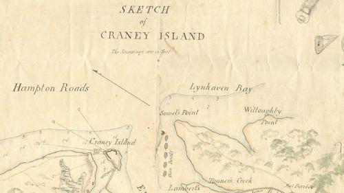 cette exceptionnelle carte de marine de 1813 récemment rédecouverte, montre les défenses de l'ile                                           (proprièté de la Duke university)