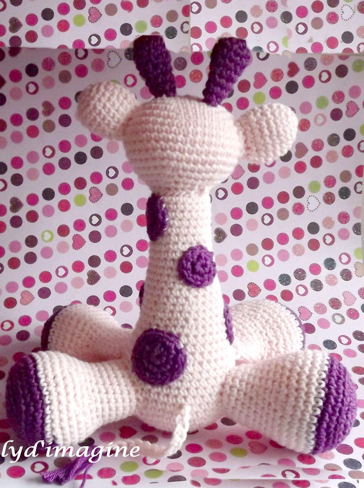 patron, pattern ou tuto de la girafe au crochet