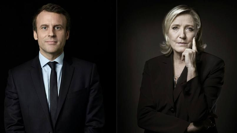 Macron - Le Pen au second tour de la présidentielle.