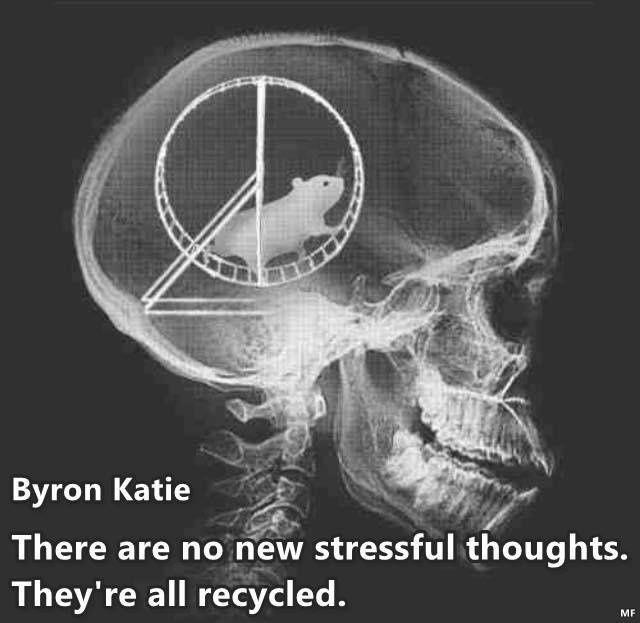 """""""Il n'y a pas de nouvelles pensées stressantes. Elles sont toutes recyclées."""""""