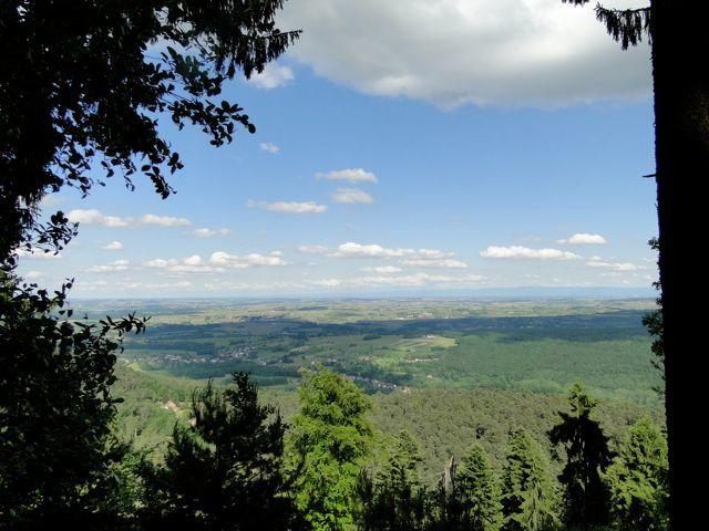 Une belle vue sur la plaine.