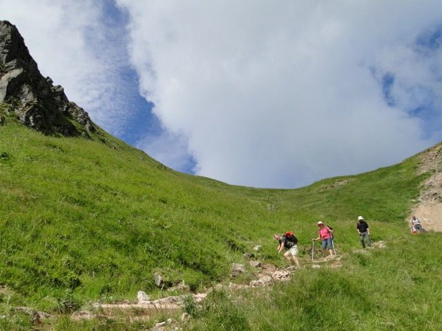 Nous descendons par le disque jaune dans le magnifique Frankental.