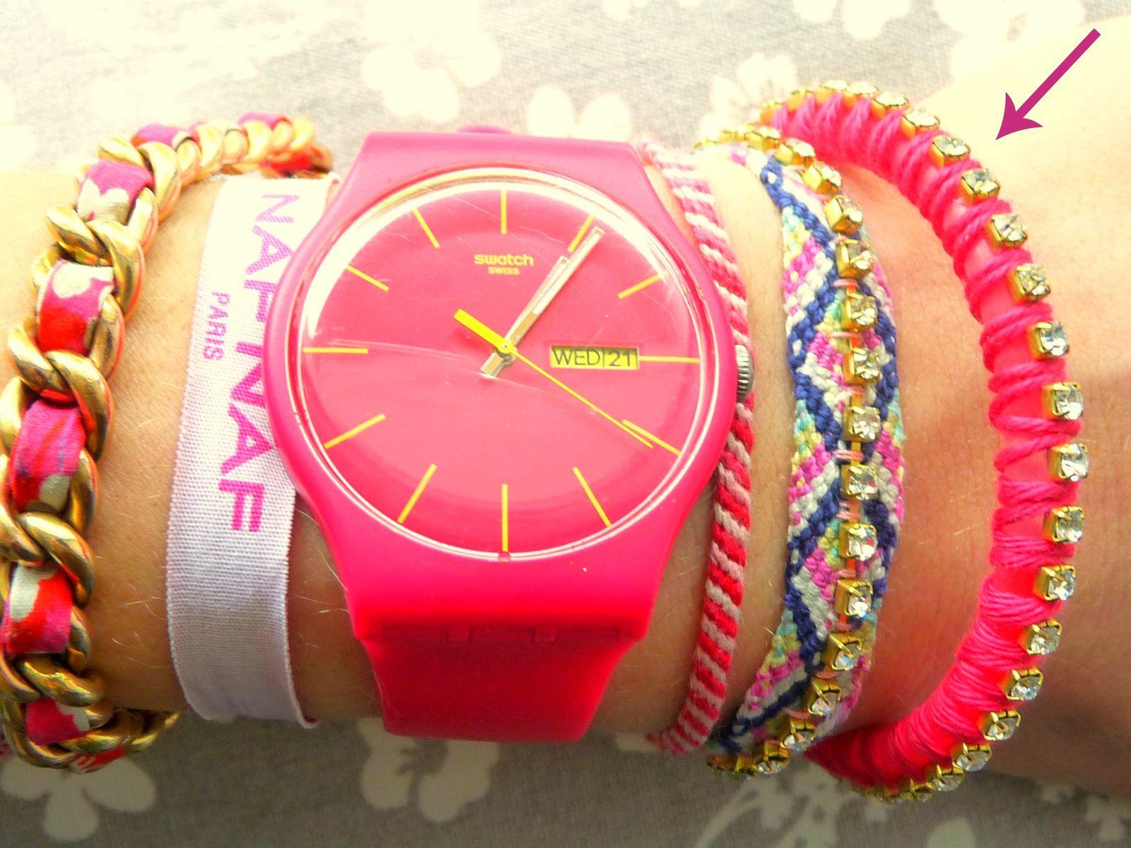 DIY bracelet néon