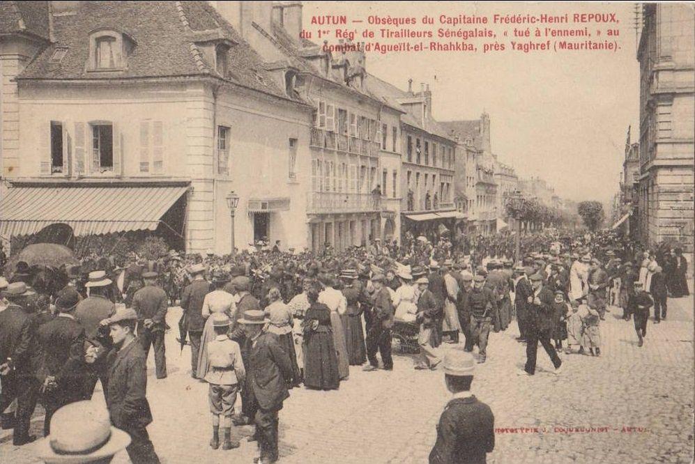 Cimetière d'Autun - La tombe du Cne Repoux : Rue de la Maladière 71400 Autun;