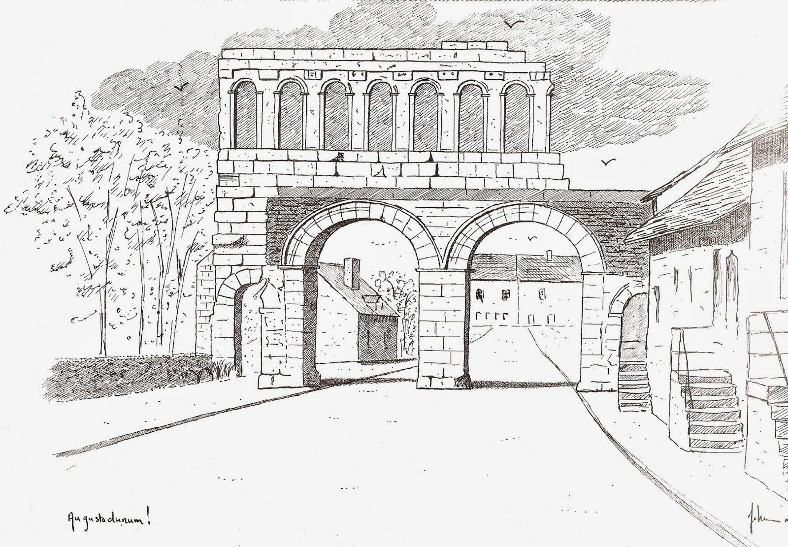 Porte d'Arroux - Rue du Faubourg d'Arroux - 71400 Autun.