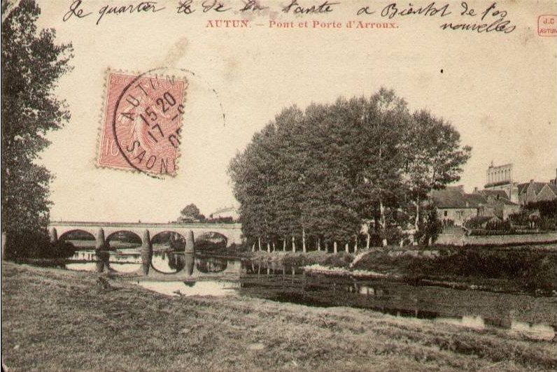 Pont d'Arroux - rue du Faubourg d'Arroux - 71400 Autun.