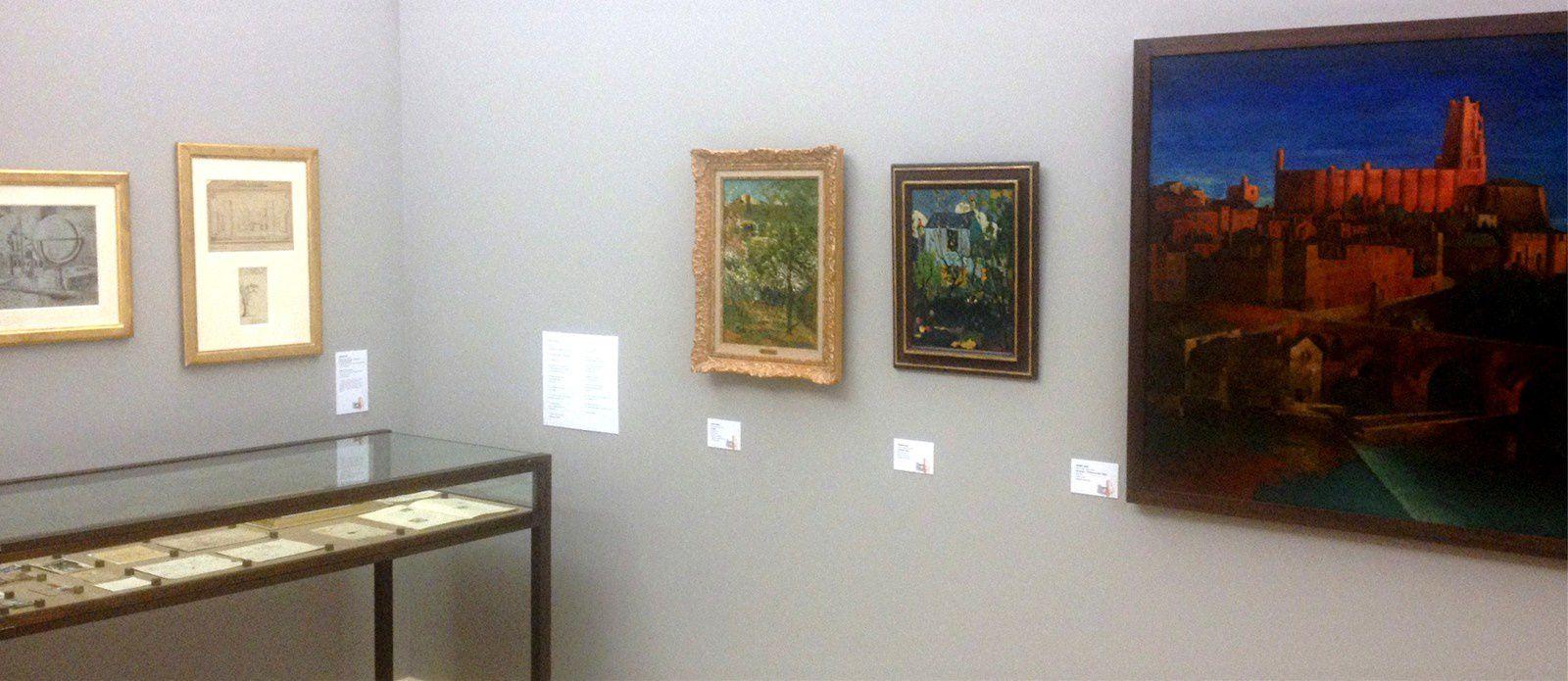"""natures mortes """"cubisantes"""" - vitrines des projets de décors du Théâtre """"synthétique"""" de l'époque impressionniste"""