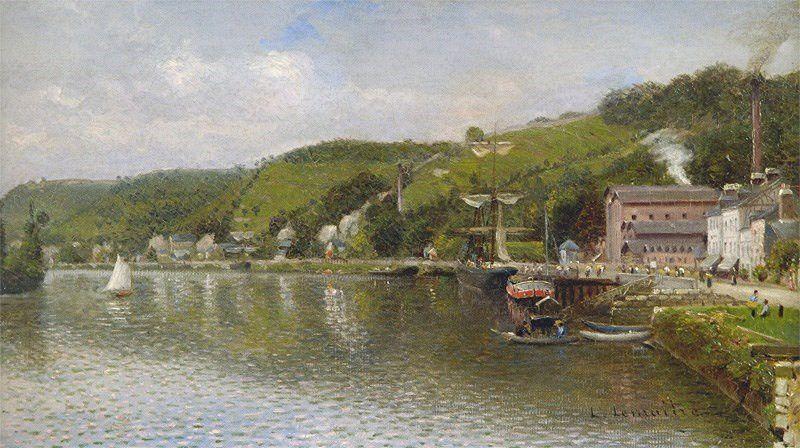 Léon-Jules LEMAÏTRE les bords de Seine à Croisset - Coll. Les Amis de l'Ecole de ROUEN