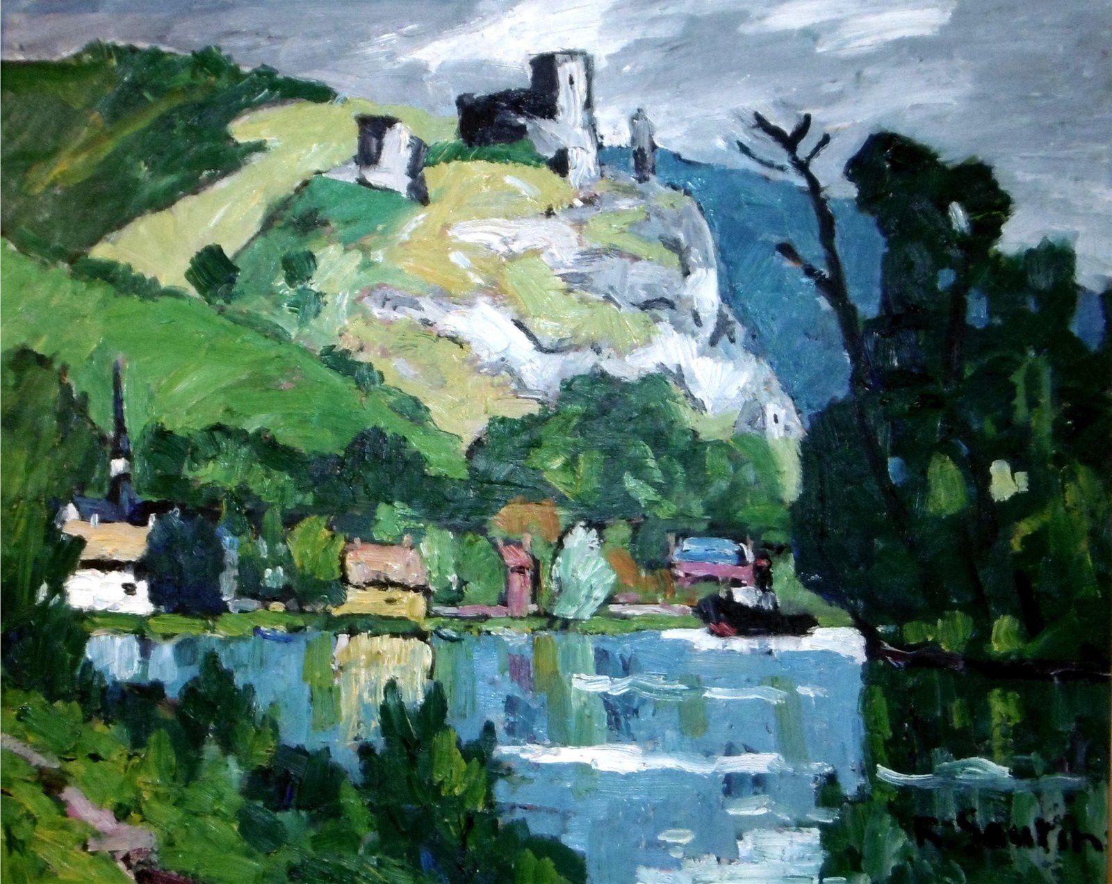 René SAUTIN (1881-1968) - les ruines du Château-GAILLARD -HST