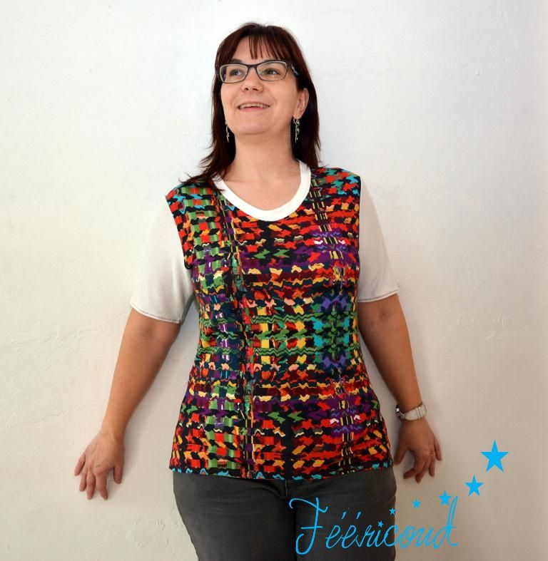 T-shirt multicolore