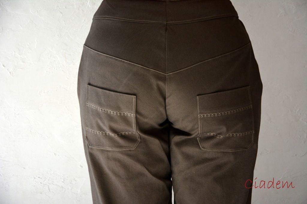 Pantalon défi cousu main