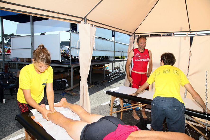 7 septembre - Les bénévoles du triathlon de Quiberon