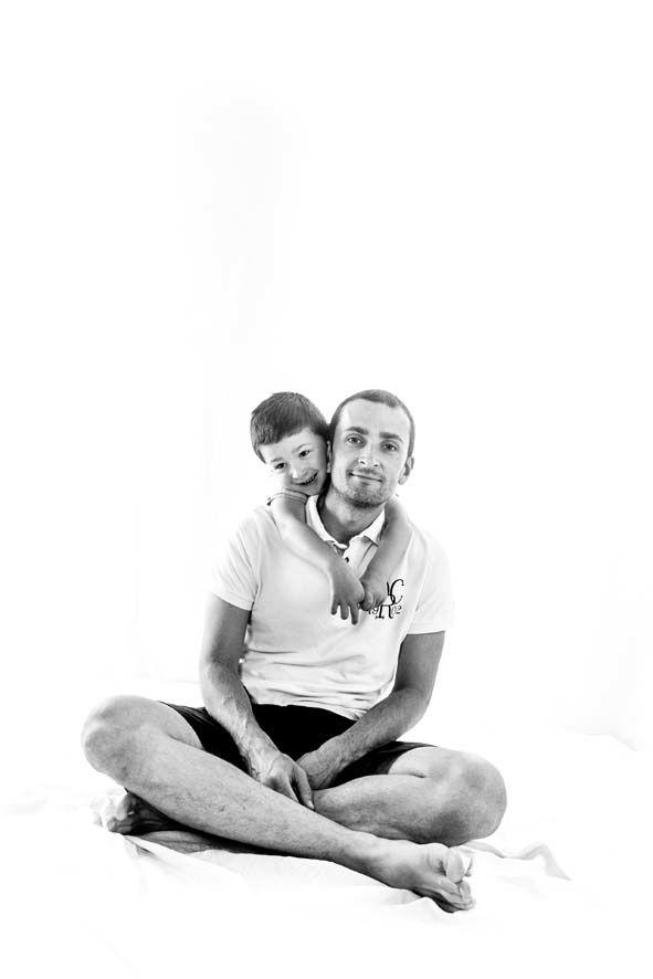 15 août - portrait de famille en noir et blanc