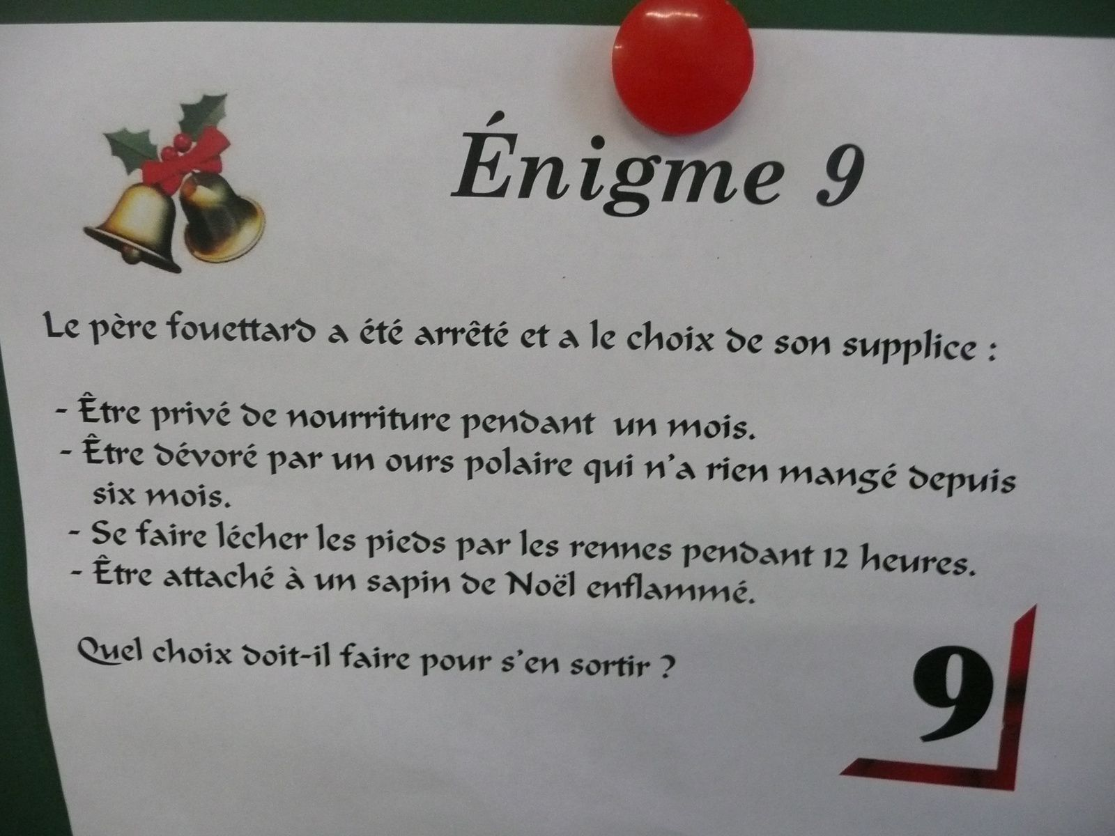 Calendrier De Lavent Cm.Enigmes 8 9 10 Calendrier De L Avent Cm Contest Ecole