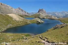 Vue du Lac de Roburent depuis le col ... l'été !!!