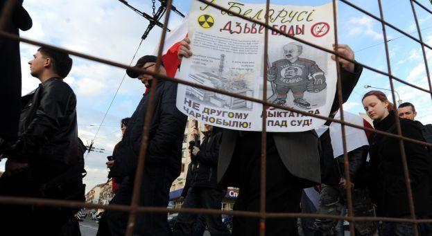 La manifestation de commémoration de la catastrophe de Tchernobyl, à Minsk, le 26 avril