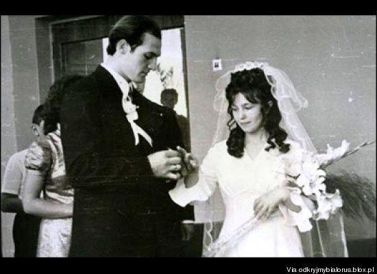 Mariage d'Alexandre et Galina Loukachenko en 1975