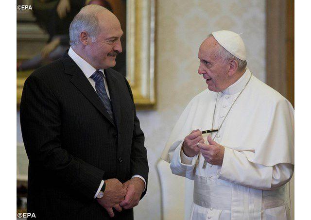 Le Pape et le président de la République de Biélorussie, samedi 21 mai 2016 au Vatican
