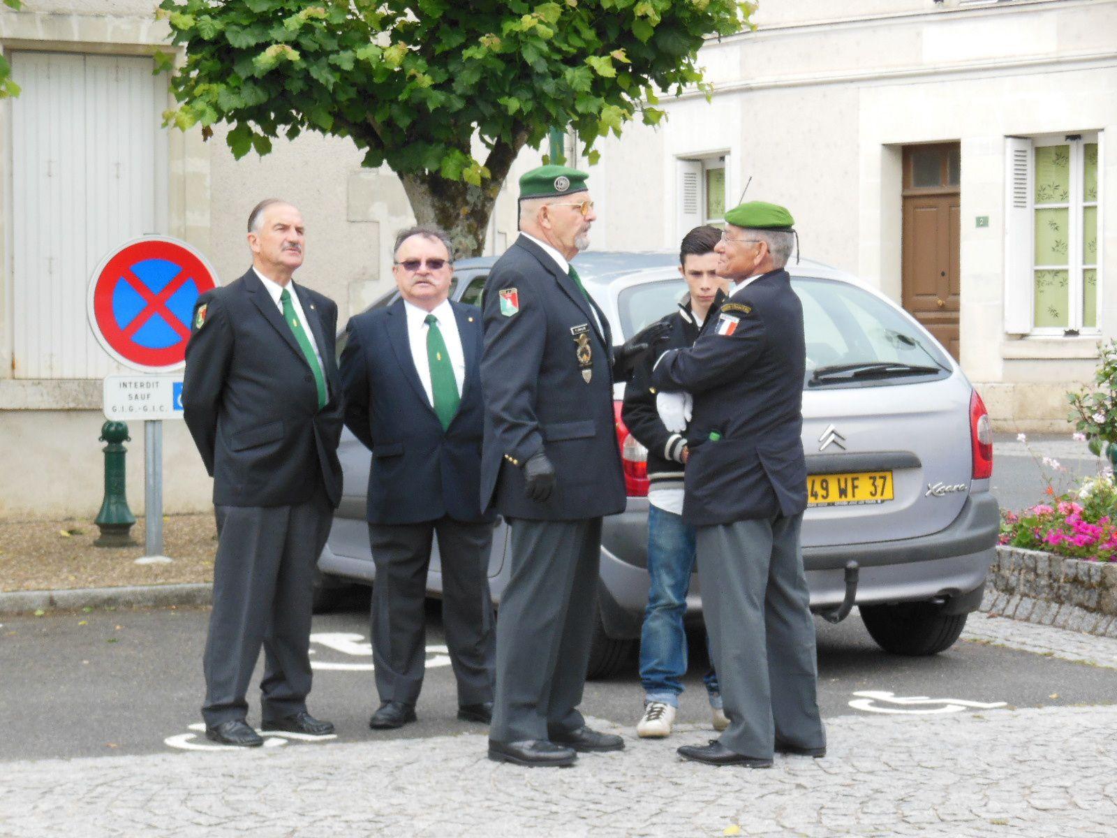 Cérémonie du 22 juin 2013 à Pocé sur Cisse à la mémoire du Capitaine Albert Bouguereau