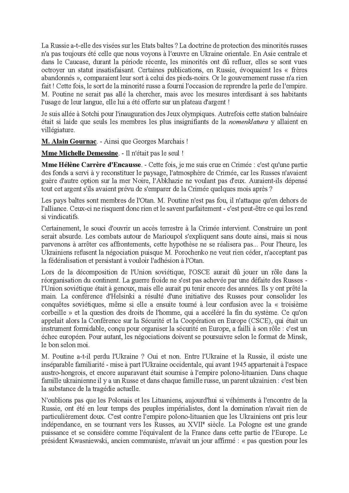 SENAT : COMPTES RENDUS DE LA COMMISSION DES AFFAIRES ETRANGERES, DE LA DEFENSE ET DES FORCES ARMEES