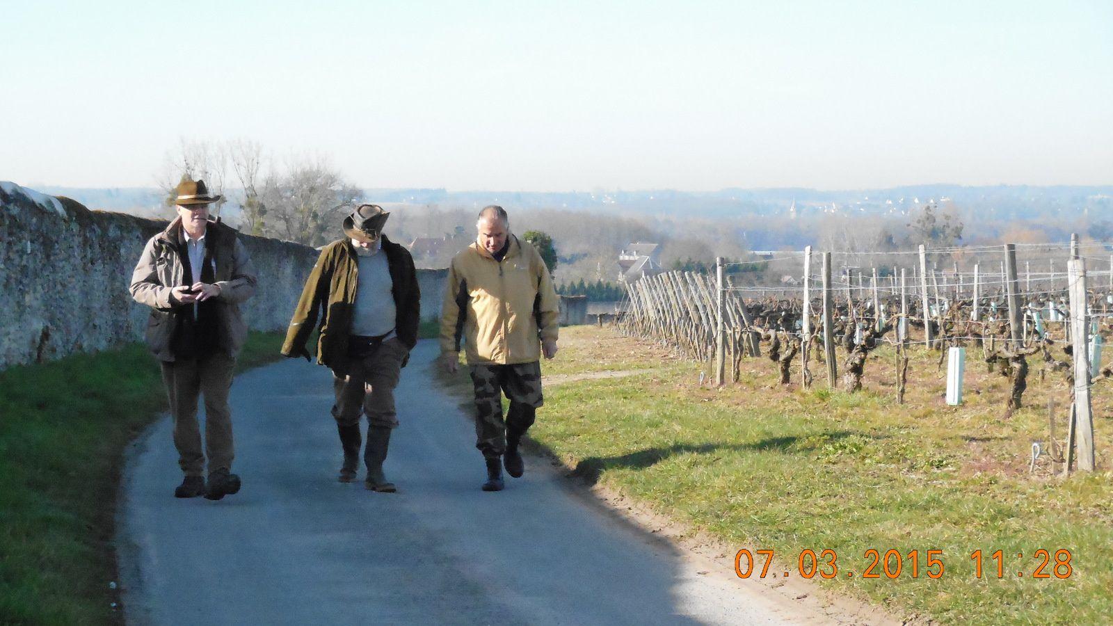 Activité AALE 37 du 7 mars 2015 : Marche suivie d'un repas convivial au stand de tir de Montlouis sur Loire