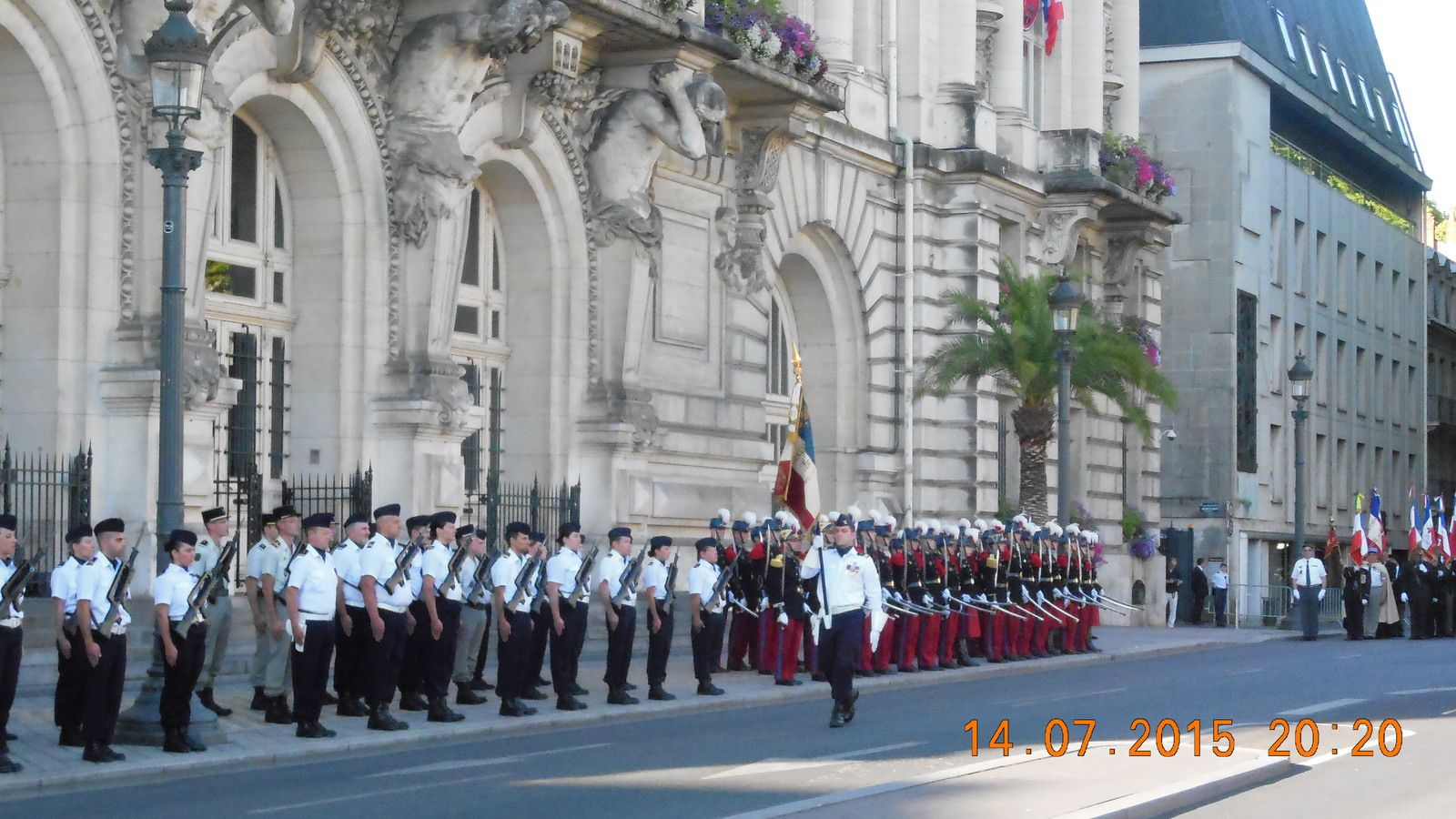 Photos de la cérémonie du 14 juillet 2015 à Tours