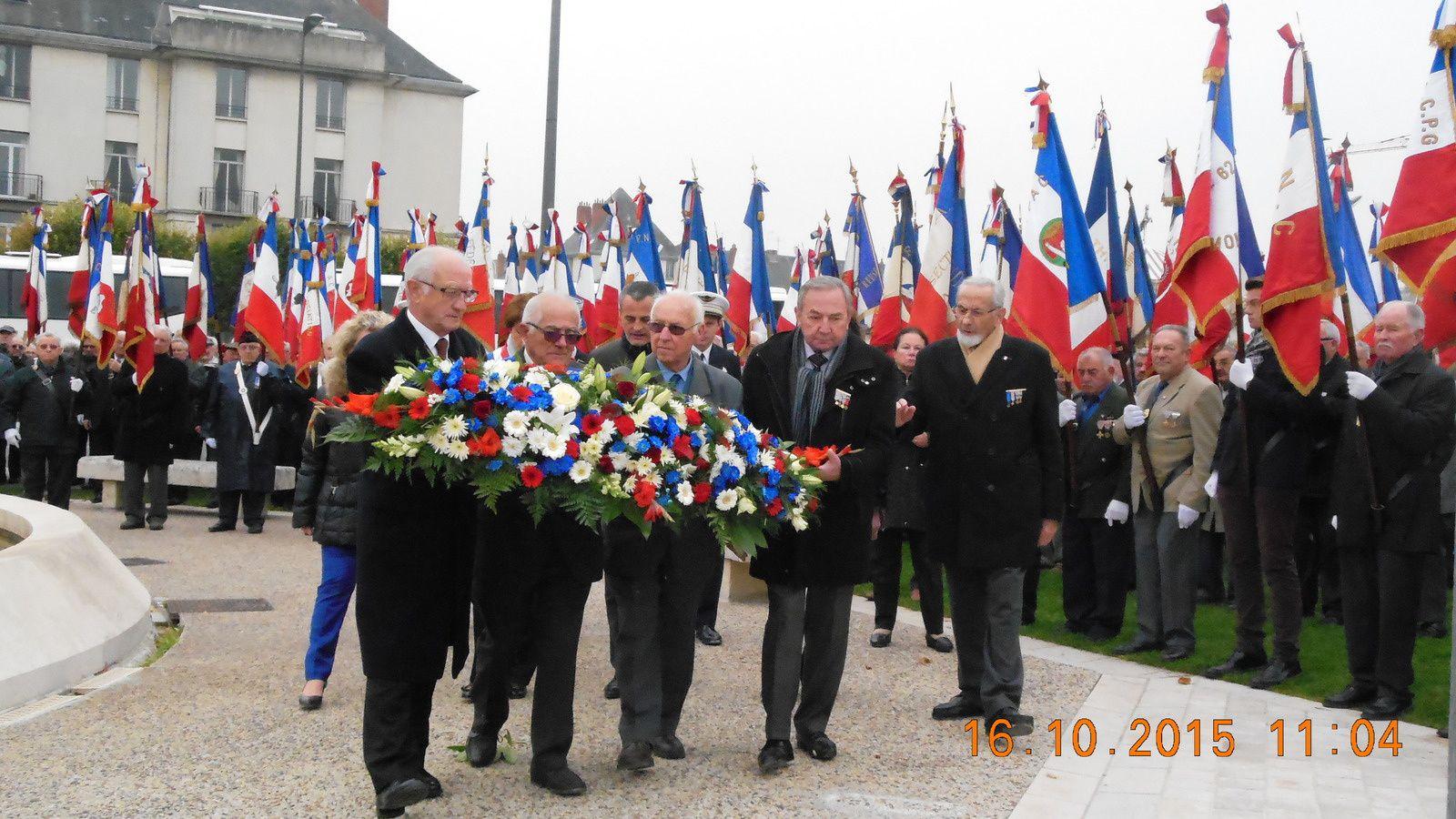 Photos de l'Anniversaire de l'inauguration du mémorial AFN à Tours vendredi 16 octobre, à 10h30