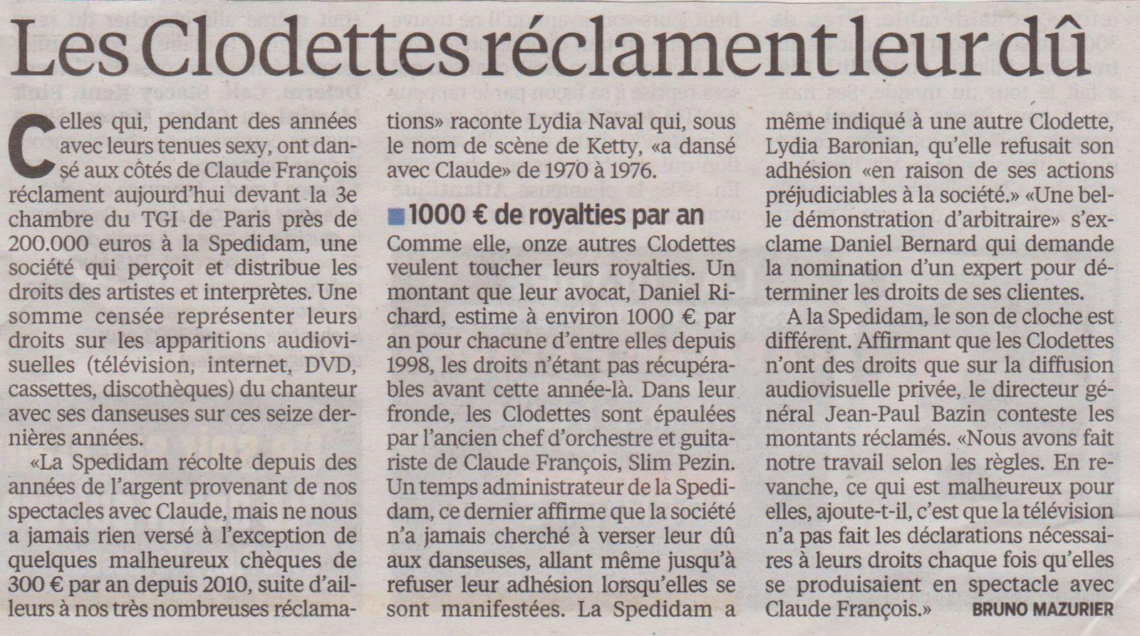 Le Parisien le 24 mai 2013