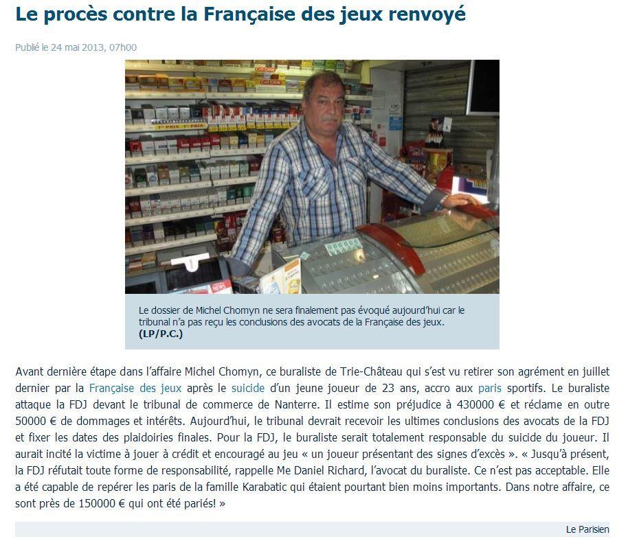 Le Parisien le 24 Juin 2013