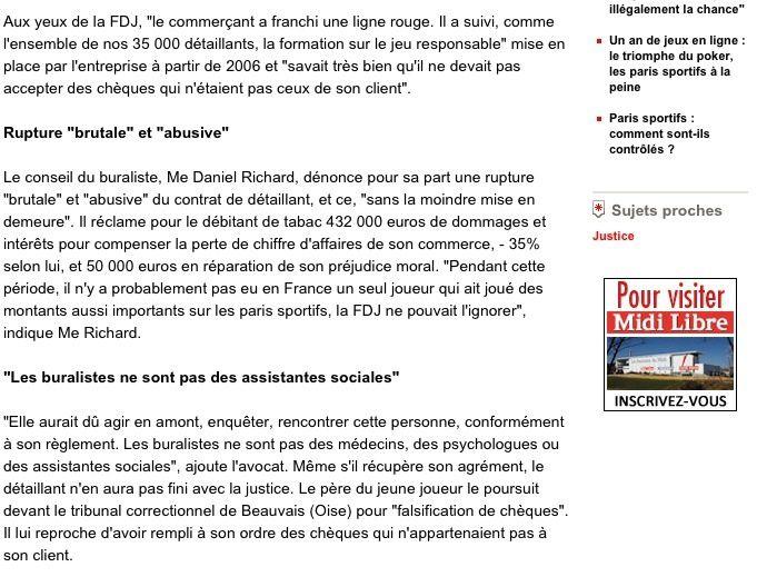 Midi Libre le 7 septembre 2013