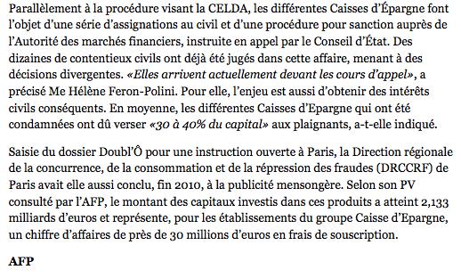 Libération le 18 Septembre 2013