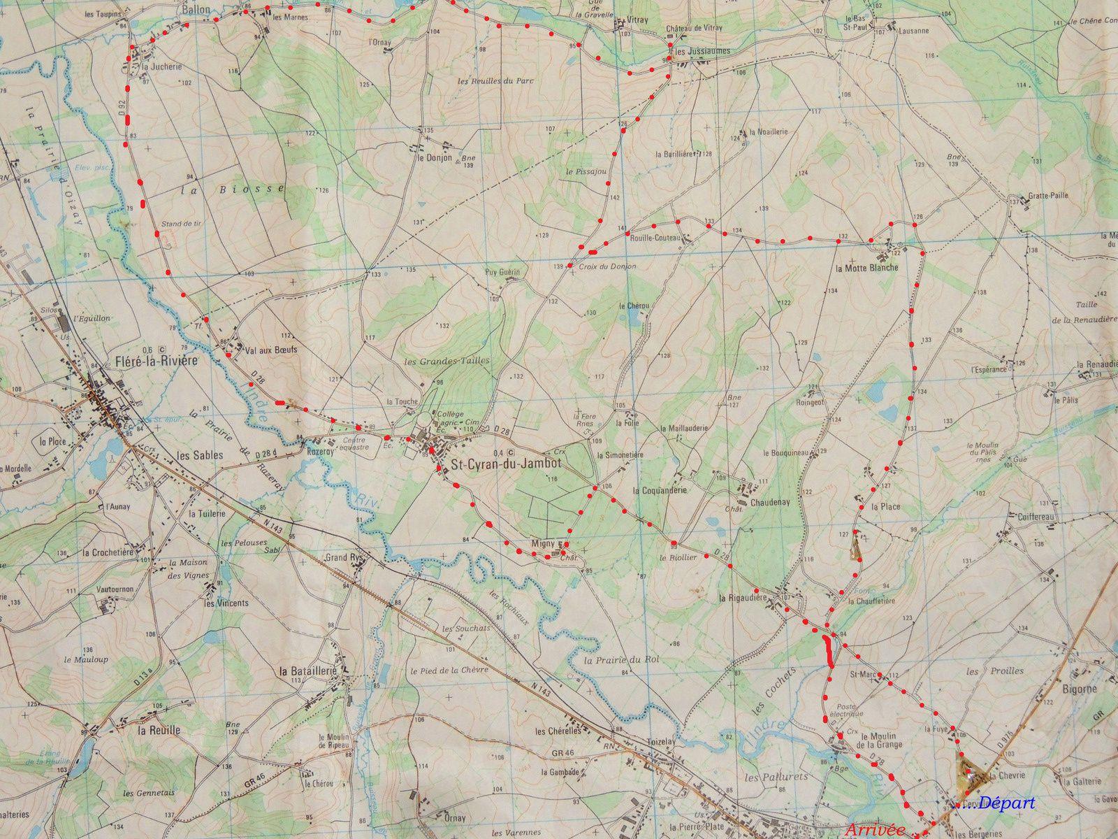 Idées 3 . Promenades en vélo autour de Chatillon.25kms