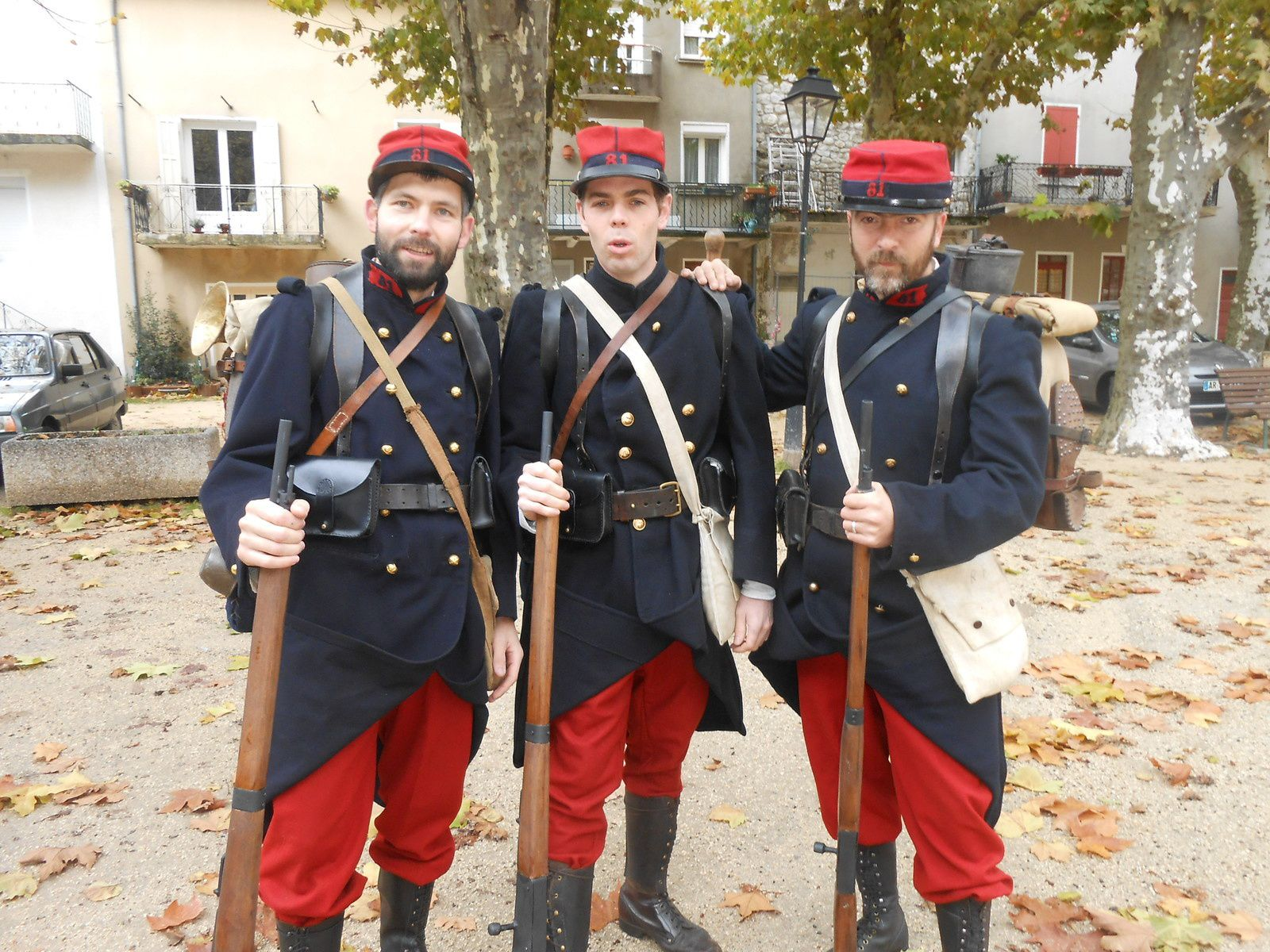 Les fantassins du 81ième régiment de Montpellier