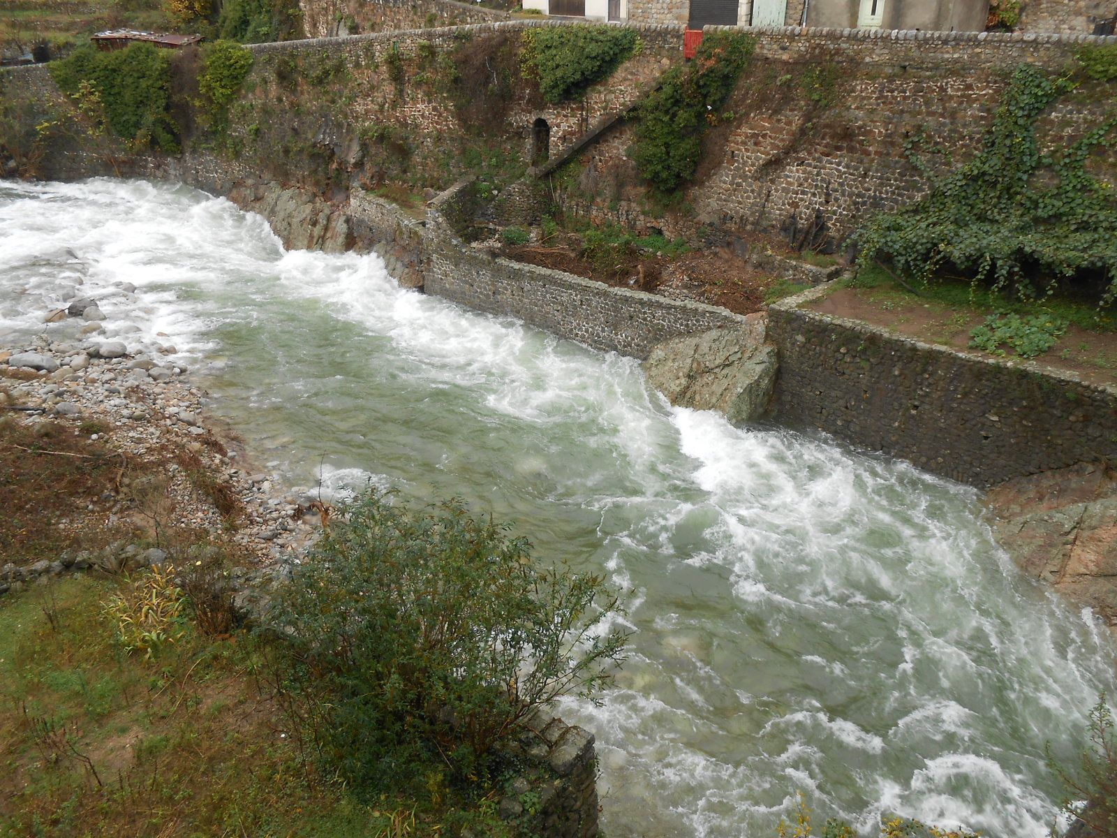 Le Lignon en amont du pont