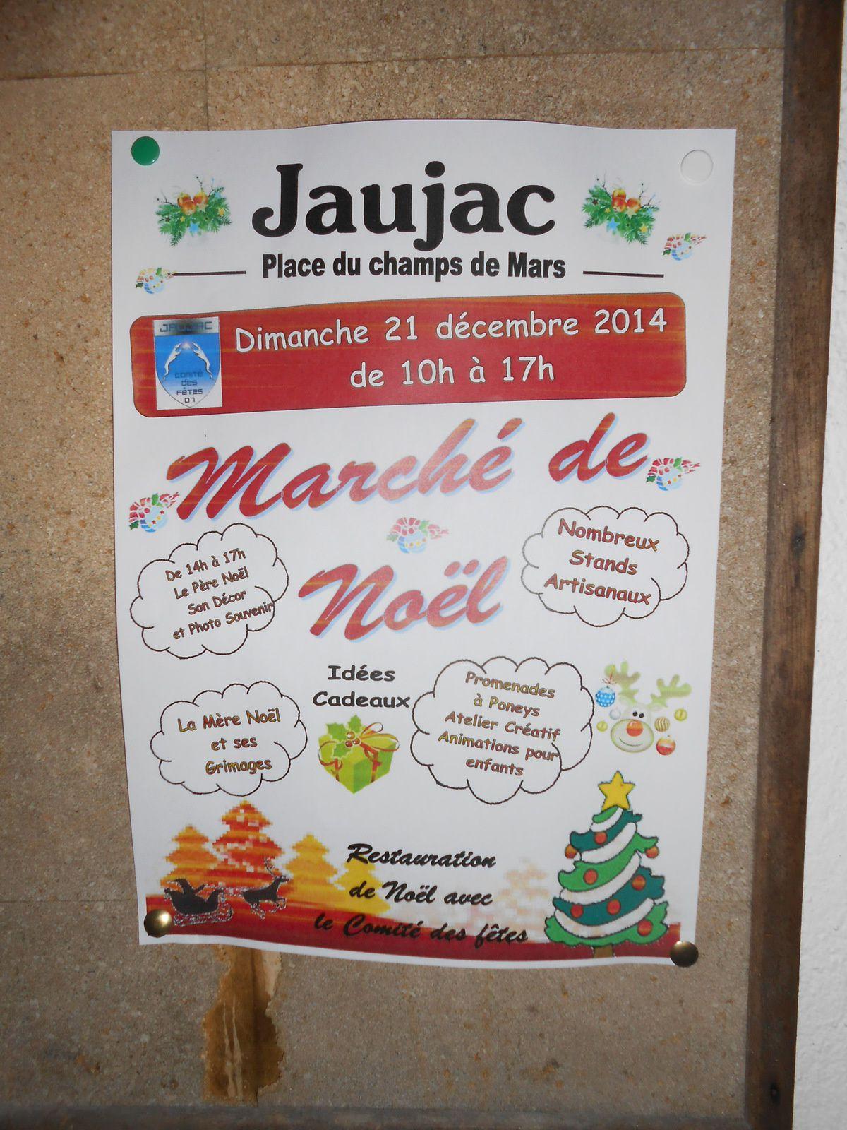 Marché de Noël, ce dimanche à Jaujac