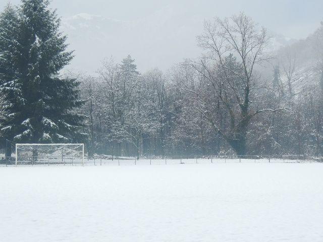 Le stade Paul Bigillon en début de semaine: les entraînements n'ont pas eu lieu