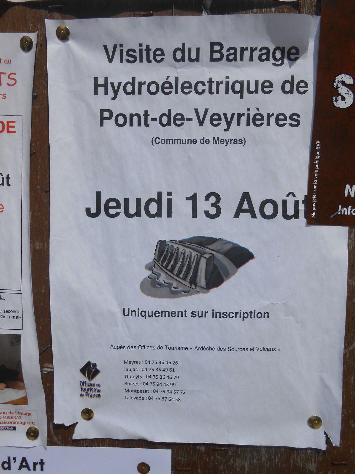 Visite du barrage hydroélectrique de Pont-de-Veyrières