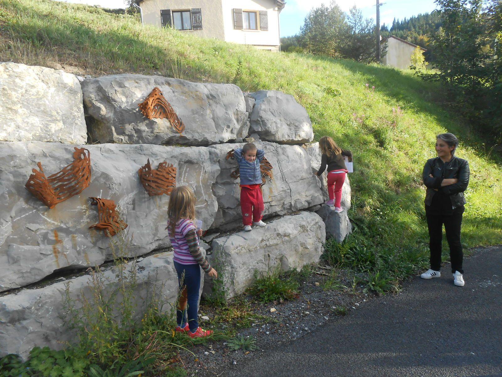 Les enfants ont déjà adopté les sculptures d'Yzo
