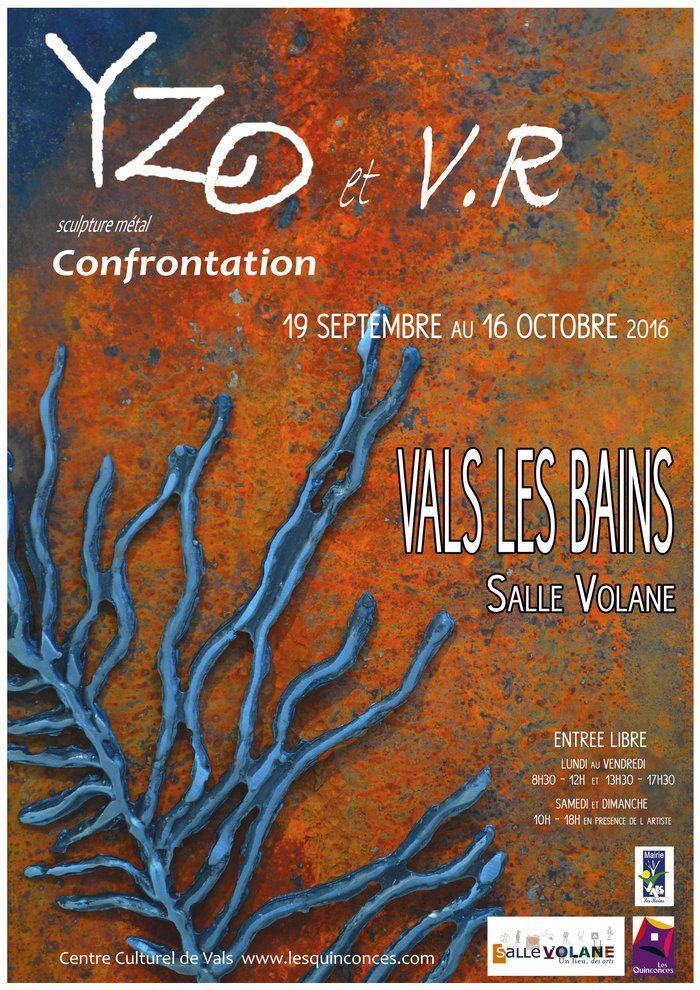 Yzo, artiste jaujacquoise en expo à Vals-les-Bains