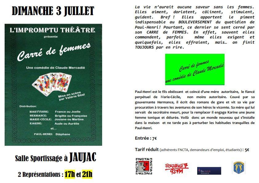 L'Impromptu Théâtre en représentation