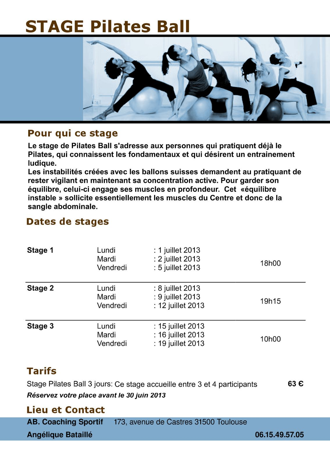 Stage Pilates Ball 2013