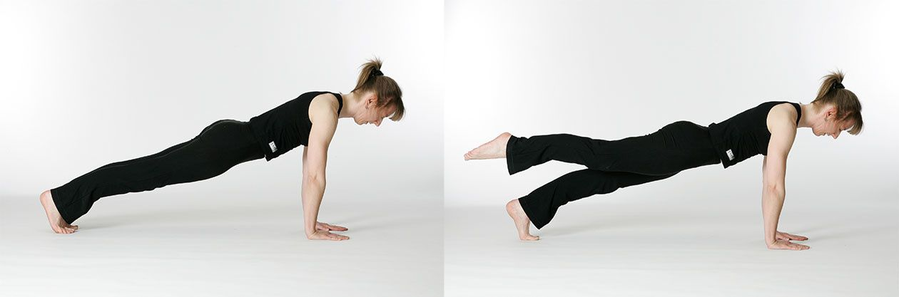 Leg Pull Front - exercice Pilates