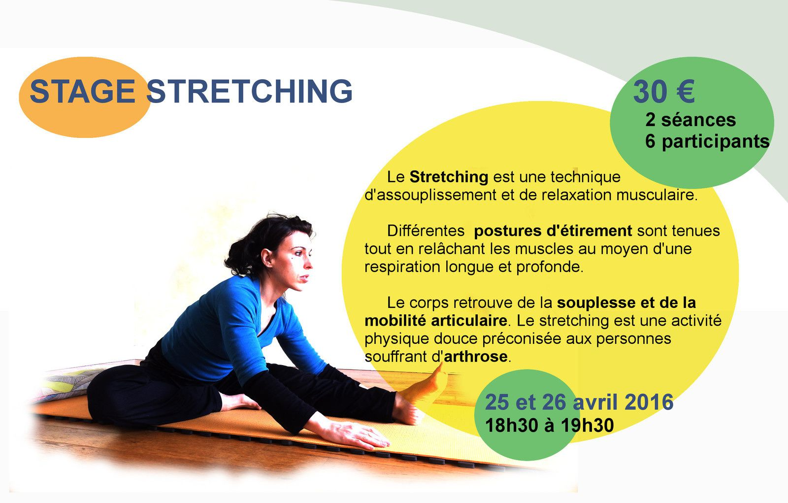 Stage de Stretching avril 2016