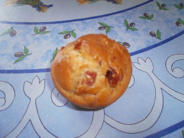 Muffins au thym et aux lardons