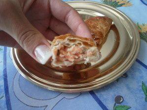 Recette de chausson au saumon et poireaux