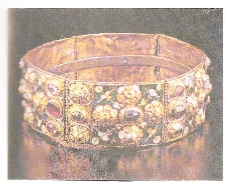 couronne des rois lombards conservée à la cathédrale de Monza (Lombardie)