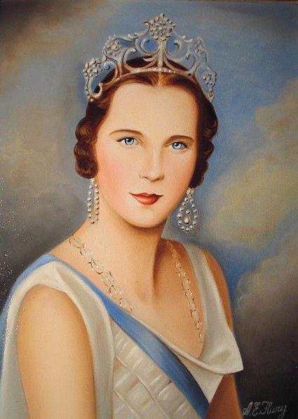 Marie José dernière reine d'Italie, photo Albert Edwin Flury