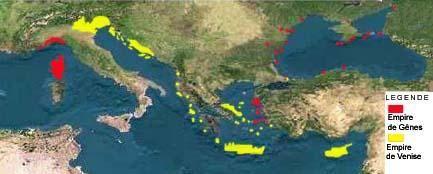 empires de Venise et Gênes, fin XIVe siècle