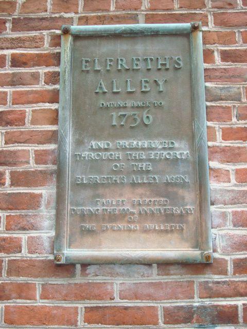 inscriptions Elfreth's Alley et rue, photos J.D. 23 avril 2016