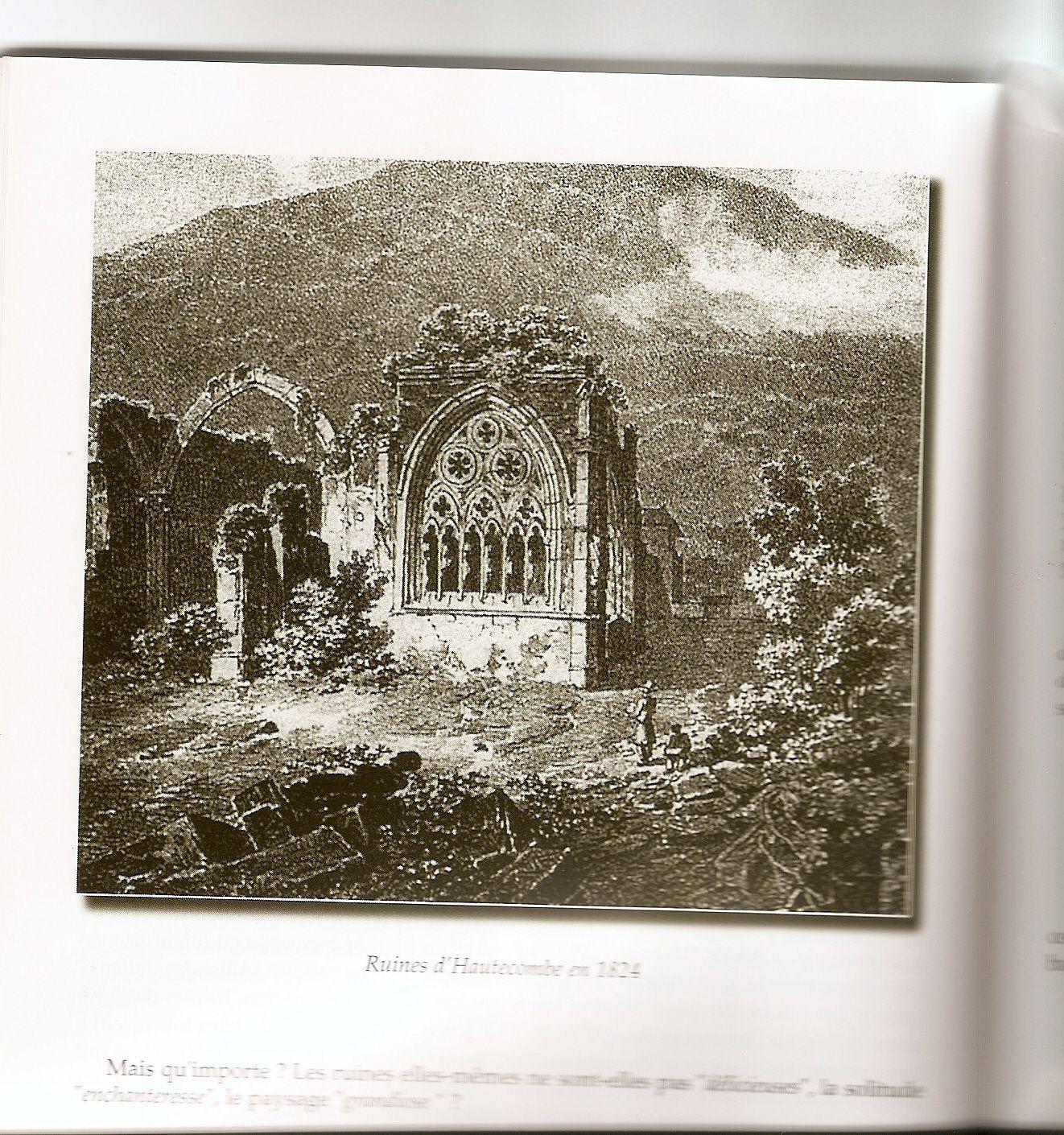 Hautecombe en 1824, source : Communauté du Chemin Neuf et cénotaphe de Sybille de Bagé à Hautecombe, photo J.D. 25 juillet 2016